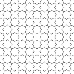 Seamless delicate pattern with stylized flowers
