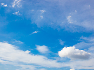 Beautiful blue sky and white cloud represent the sky and cloud concept related idea.