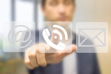 Business set button web messaging call sending icon sign
