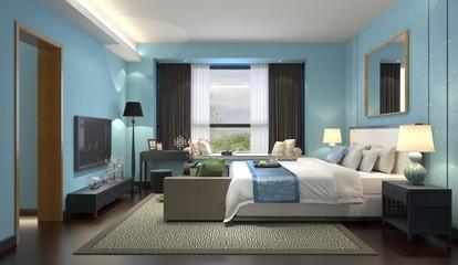 3D illustration bedroom Interior