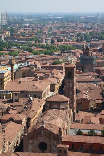 Basilica di San Giacomo Maggiore view from Asinelli Tower in Bologna ...