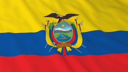 Ecuadorian Flag HD Background - Flag of Ecuador 3D Illustration