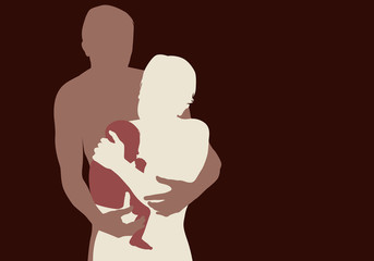 Famille - Enlacé - Enfant