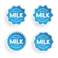 Farm fresh Milk - Full fat label set
