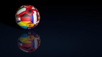 Fussball mit verschiedenen Ländern zur EM 2016 in Frankreich