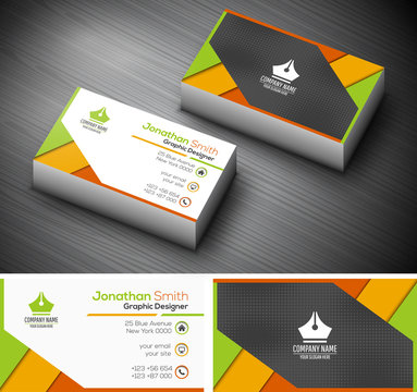 Business card. File contains text editable AI and PSD, EPS10,JPEG and free font link.