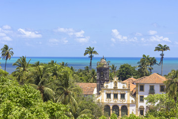 Landscape from ancient buildings in Olida, Recife Brazil