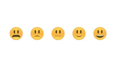 Emoticon vector. Emoji vector. Smile icon set.  Emoticon icon web - stock vector.