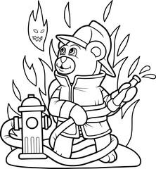 teddy bear firefighter