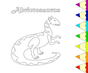 Coloring page of Jurassic reptile.