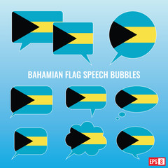 Bahamian Flag Speech Bubbles
