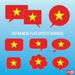 Vietnamese Flag Speech Bubbles
