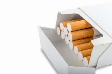 Side view of a pack of cigarettes - Plain tobacco packaging