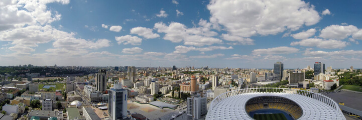 Aerial view of Kiev city at summer