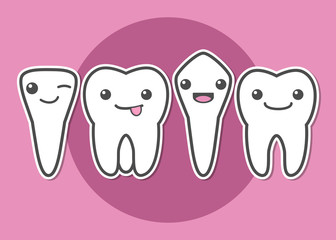 Tooth types illustration