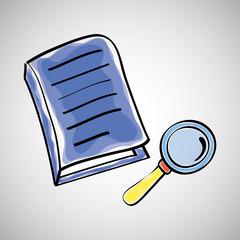 Book design. sketch icon. White background , vector