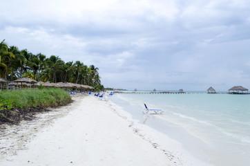 View of tropical beach in Cayo Guillermo - Ciego de Avila Province, Cuba.