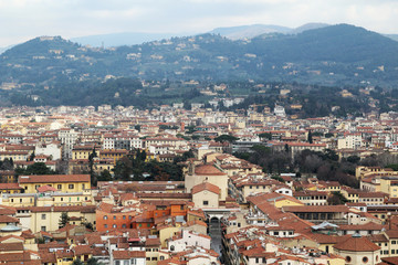 Panorama of Florence opening from Campanile Tower
