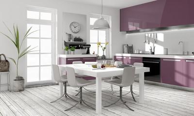 modern Küche Einbauküche weiss Küchendesign Lackoberfläche