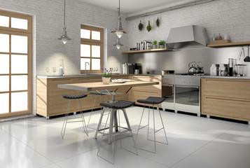 modern Landhausküche Küche Country Style Holzküche