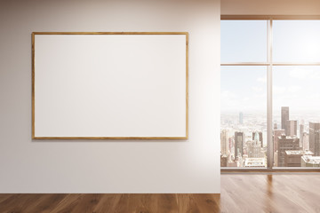 Blank frame in room