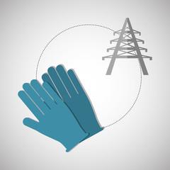 Under construction design. supplies icon. glove illustration