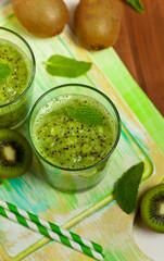 Kiwi Fruit Drink. Selective focus.