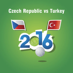 Euro 2016 Czech Republic vs Turkey vector background