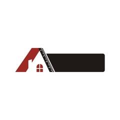 logo house building window circle symbol vector