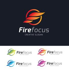 Fire focus logo. Fire logo,business logo template.