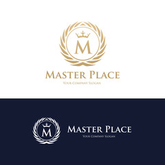 Luxury brand identity, hotel logo, Royalty logo template, Place and restaurant logo,vector logo template