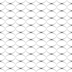 Geometric delicate simple seamless pattern with ovals