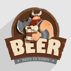 Creative wall street pub bar beer shop character sign design