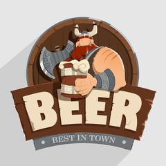 Creative wall street pub bar beer shop character sign design