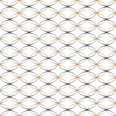 Lace simple seamless pattern with ovals