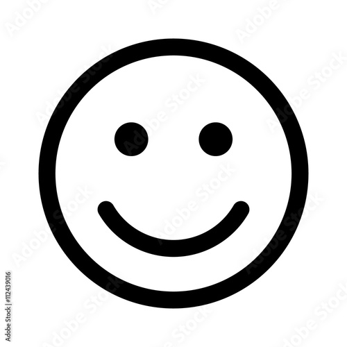 Line Drawing Of Happy Face : Quot happy smiley face or emoticon line art icon for apps and