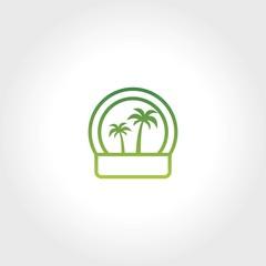 tree palm  logo