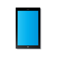 phone icon blue screen tablet