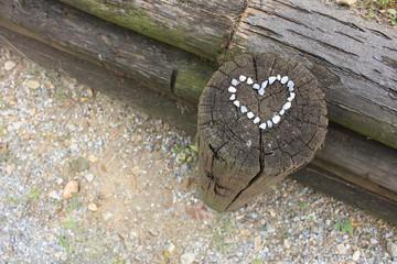 cuore di pietroline bianche
