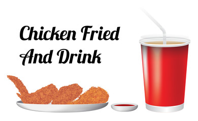 chicken fried and drink
