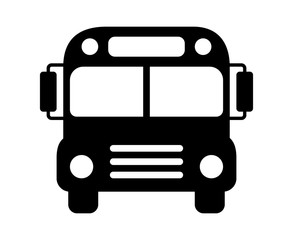School bus or schoolbus transportation vehicle flat icon for apps and websites