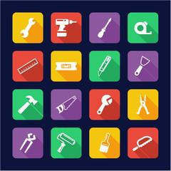 Handyman Icons Flat Design