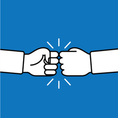 Fist bump. Friendship sign. Agreement symbol. Vector illustration