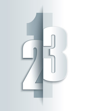 123 numbers modern template.