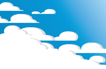cloud and space of blue sky abstract art vector background
