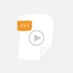 AVI vector icon