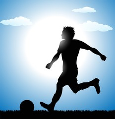 football (soccer) player silhouette
