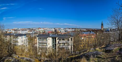 Spring Turku cityscape