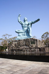 Peace Statue in Nagasaki Peace Park, JAPAN