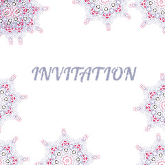 our wedding invitation with MANDALA background